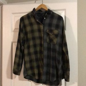 Topshop long sleeve flannel shirt size 2